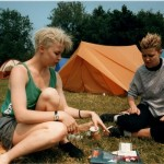 Friend and I hitched down from Edinburgh..without a tent!But got well looked after.Made instant friends.