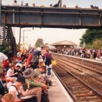 The horrendous queue for the train on the way back!