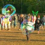 Bubbles always a part of Glastonbury