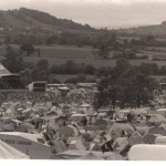 Pyramid stage and Galstonbury Tor - Saturday eve 1984