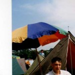 We set up tent right in front of the Pyramid stage back then