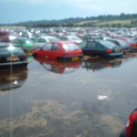 Friday afternoon after the rain in the carpark....