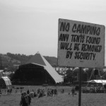 Pyramid stage on Thursday afternoon 2004 - the sunny calm before the monsoon.