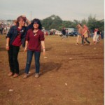 My first Pilton 1982 Me and Heather Collier both 15