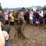 Mud wrestlers.