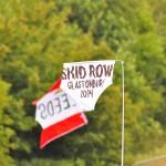 Skid row flag