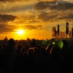 Sunset on Saturday night by the Other Stage