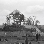 pyramid under construction