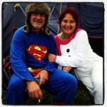 Superman & his missis.