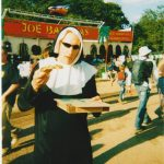 Eating pizza dressed as nun - it's what we did in 2003 :)