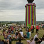 Chillin under the Ribbon Tower, to acoustic tunes from The Rabbit Hole
