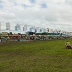 When the grass was still green at The Other Stage - and its fabulous flags
