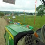 From the cab: The Pyramid Stage field