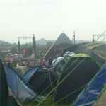 Sat arvo R&R watching  Jack Johnson from the tent