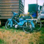 Honda Cub 90  wood sculptor's transport.