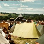 The Piramid stage 1984. We camped opposite the stage.