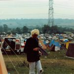 Pat at Glastonbury 1986