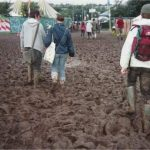 Exploring in the mud!