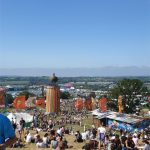 Chilling on Glasto hill